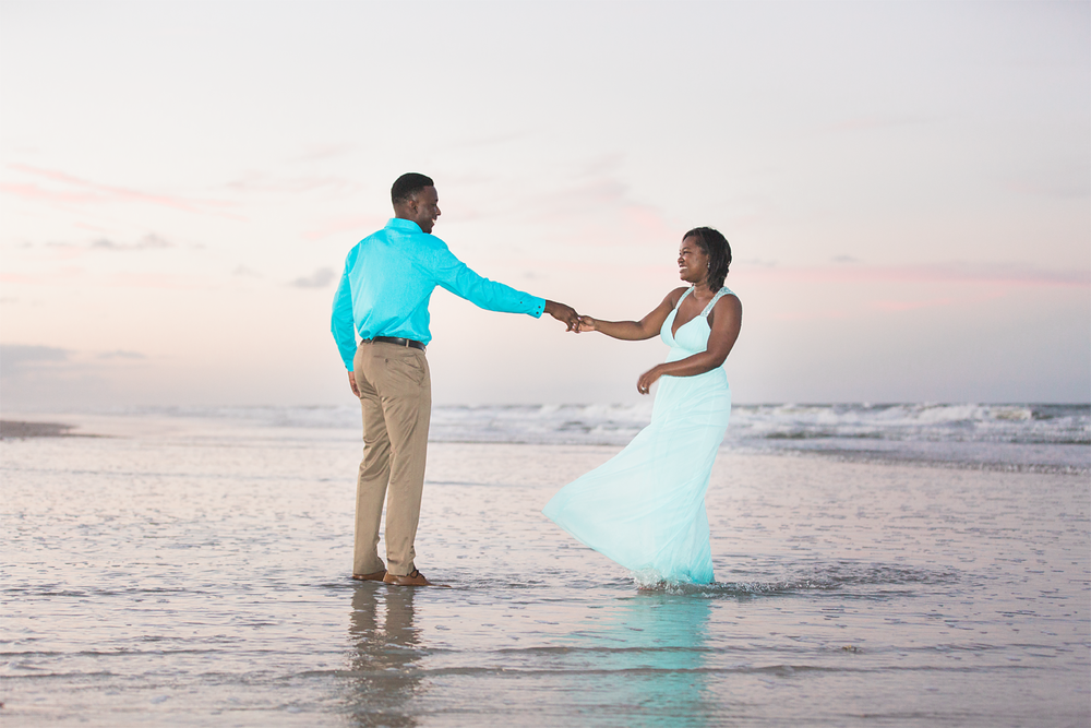 sunset beach engagement session. jacksonville fl photographer