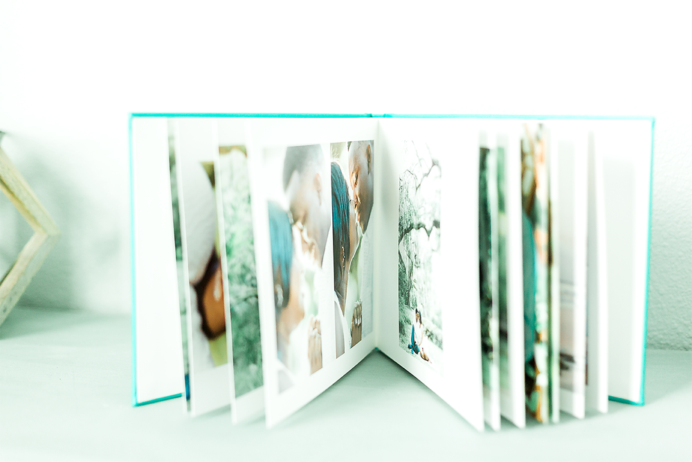 Engagement album sample. Fine art engagement and wedding albums