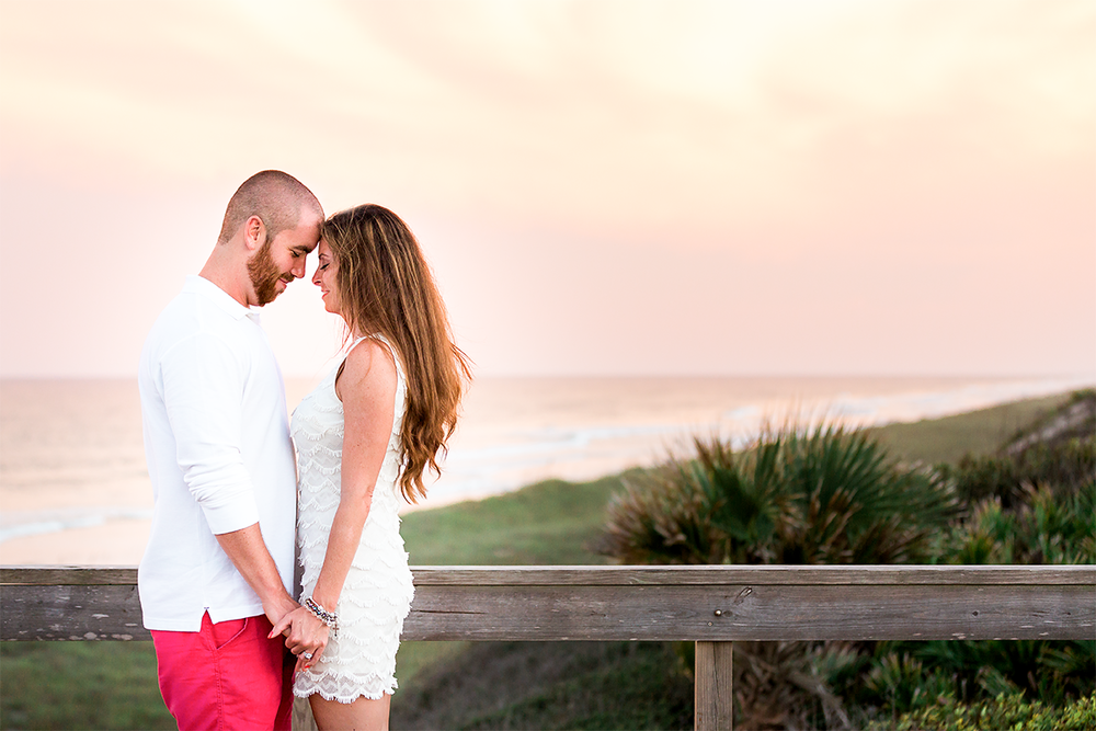 Engagement photos at Ponte Vedra beach