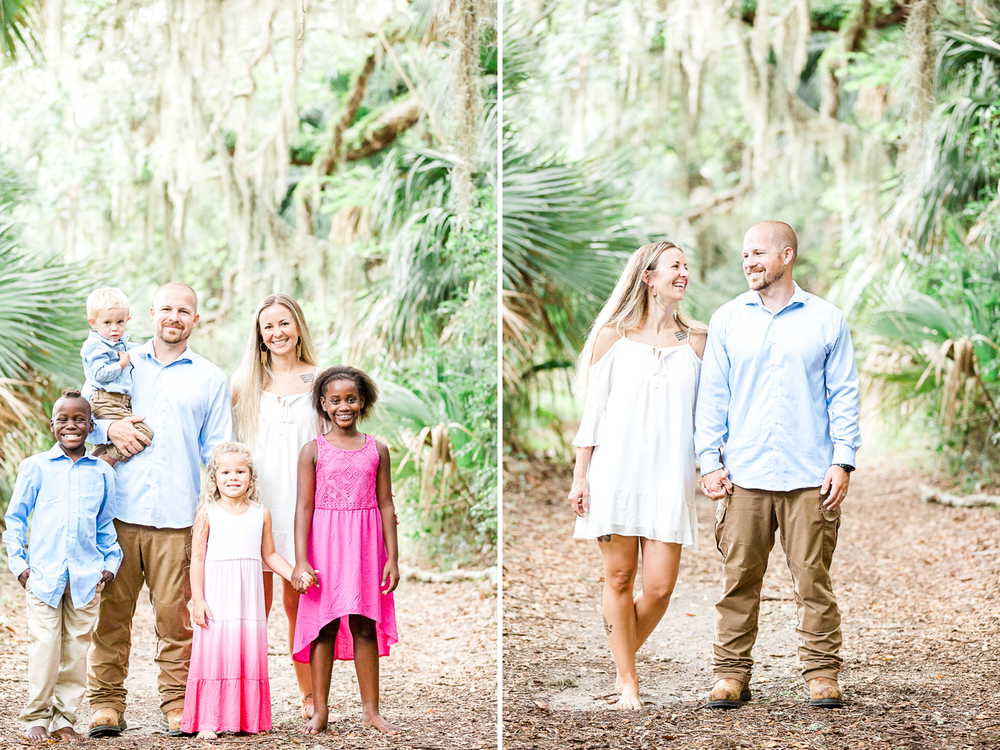 family photoshoot in hanna park, jacksonville fl