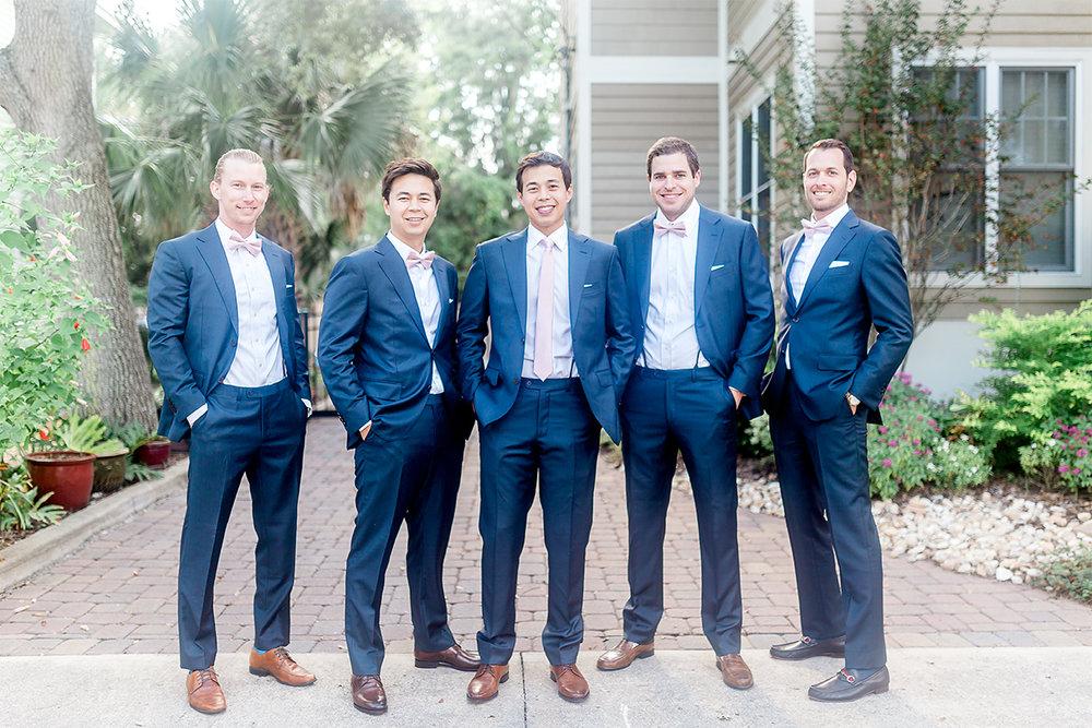 Groom and groomsmen in St.Augustine