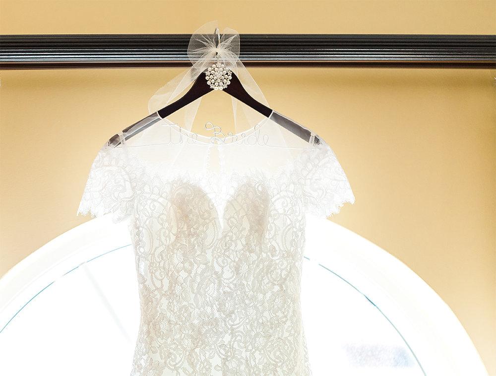wedding dress in casa monica, st.augustine