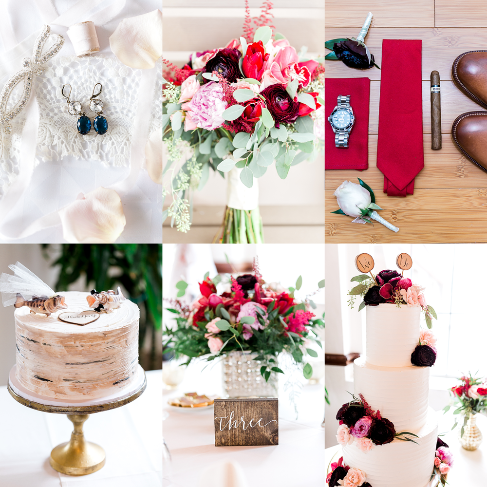 wedding decorations, flowers and cake_wedding details - photographer in jacksonville fl