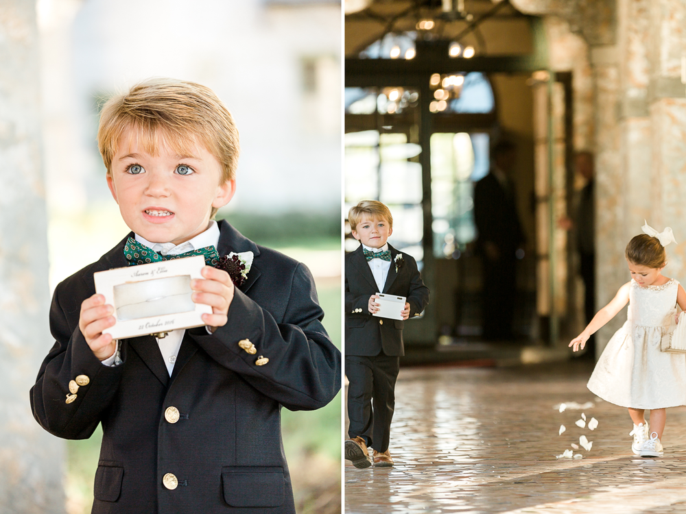 flower gilr and ring bearer in the bolles school wedding.png
