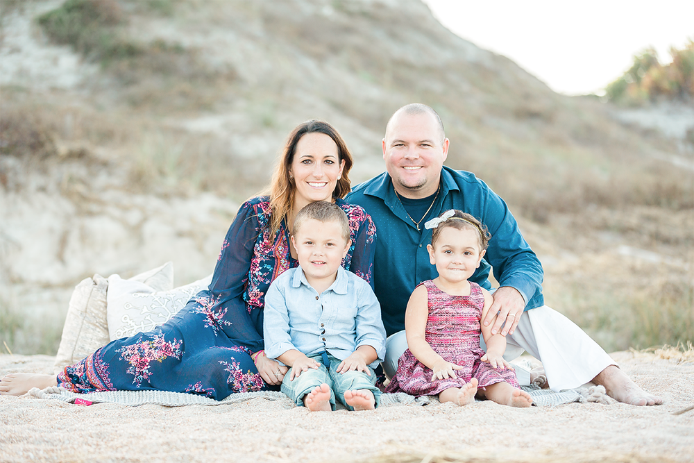 sunset family session in ponte vedra beach