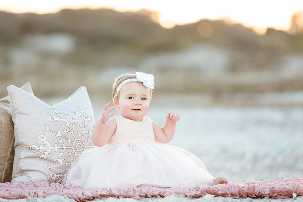 first birthday session in jacksonville beach