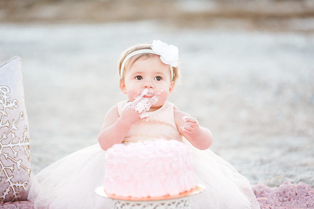 cake smash photos in hanna park, jacksonville fl