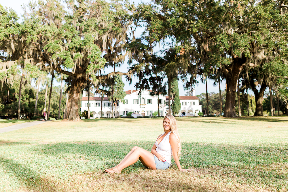senior photoshoot in jekyll island club resort