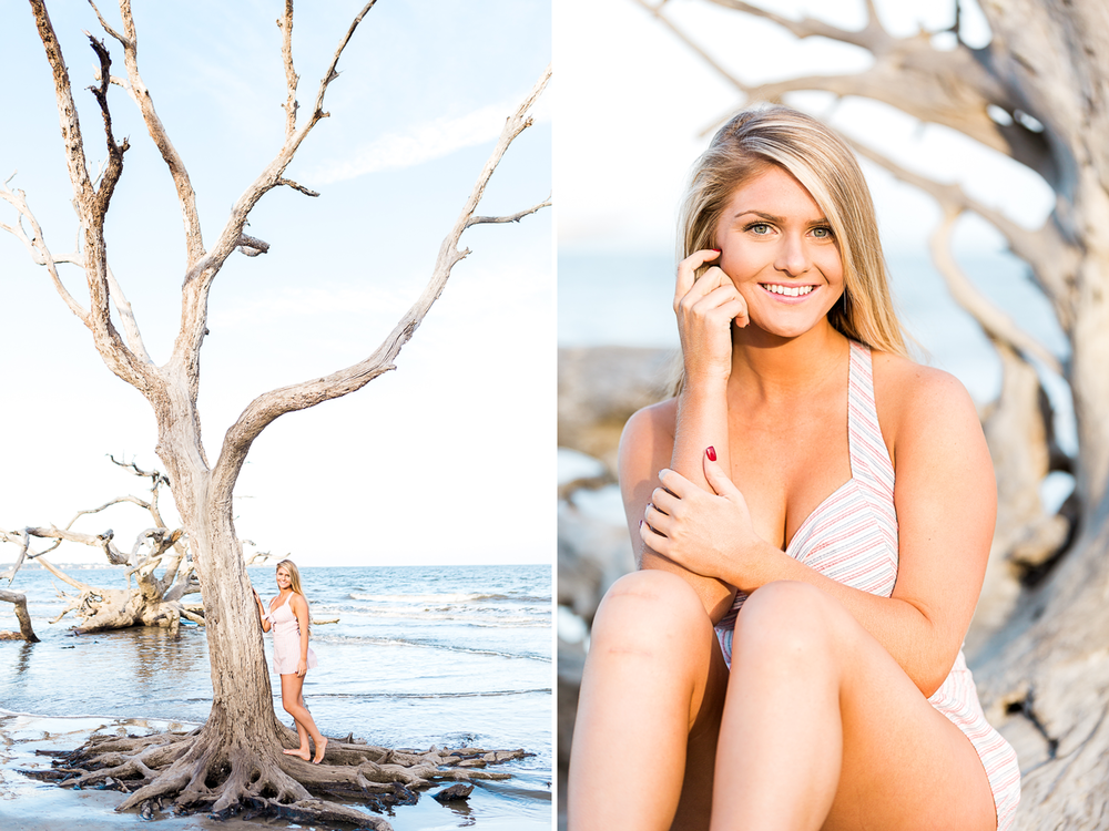 Jeykll Island and Driftwood Beach high school senior photoshoot