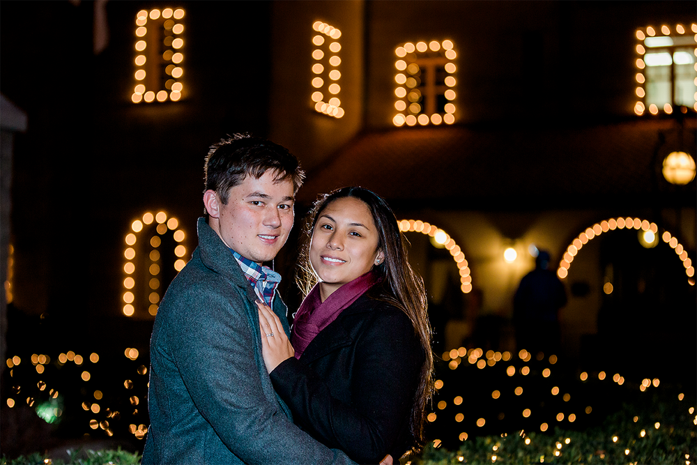 st.augustine nights of lights engagement photos