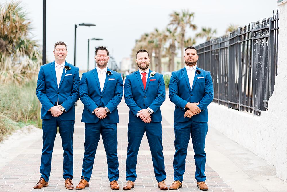 groomsmen in jacksonville beach wedding