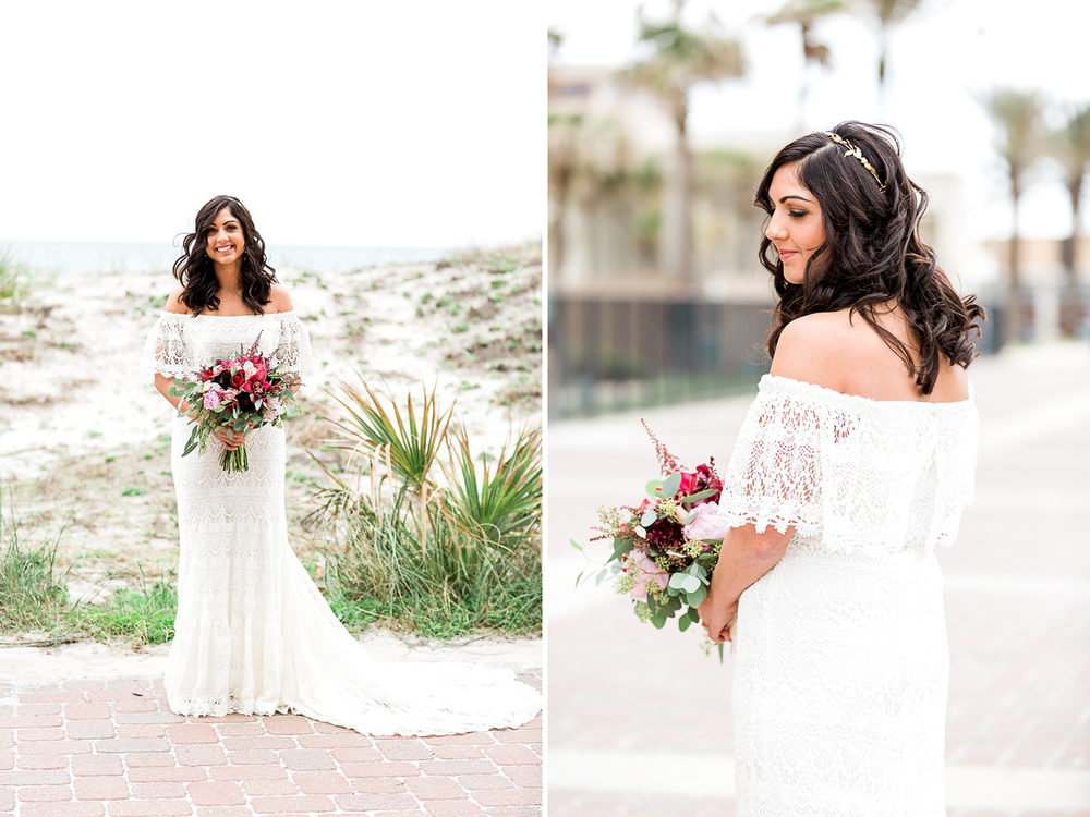 Daughter's of Simone wedding dress in jacksonville Beach wedding