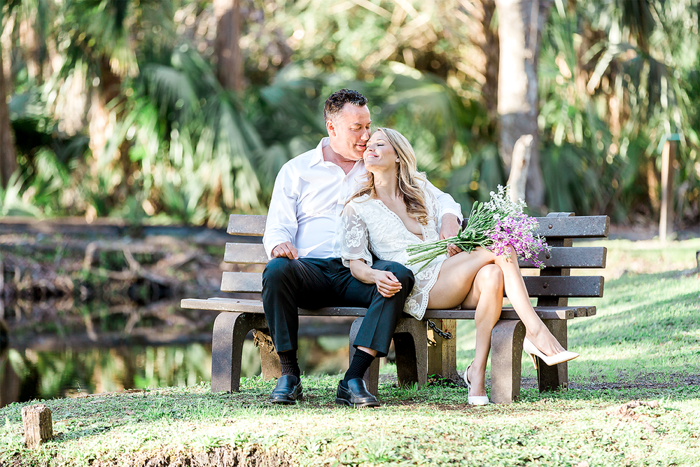 Engagement session in Howell Park in Atlantic Beach