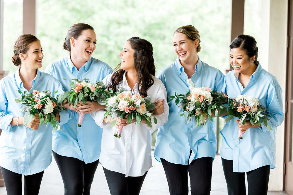 bride and bridesmaids in nocatee crosswater hall