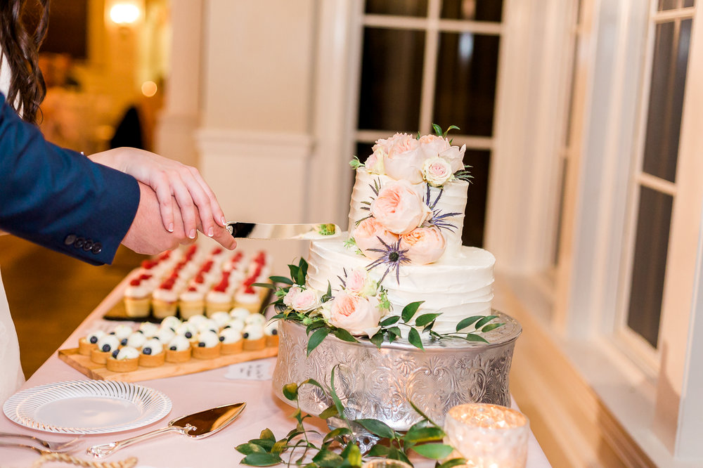 cake cutting in a wedding