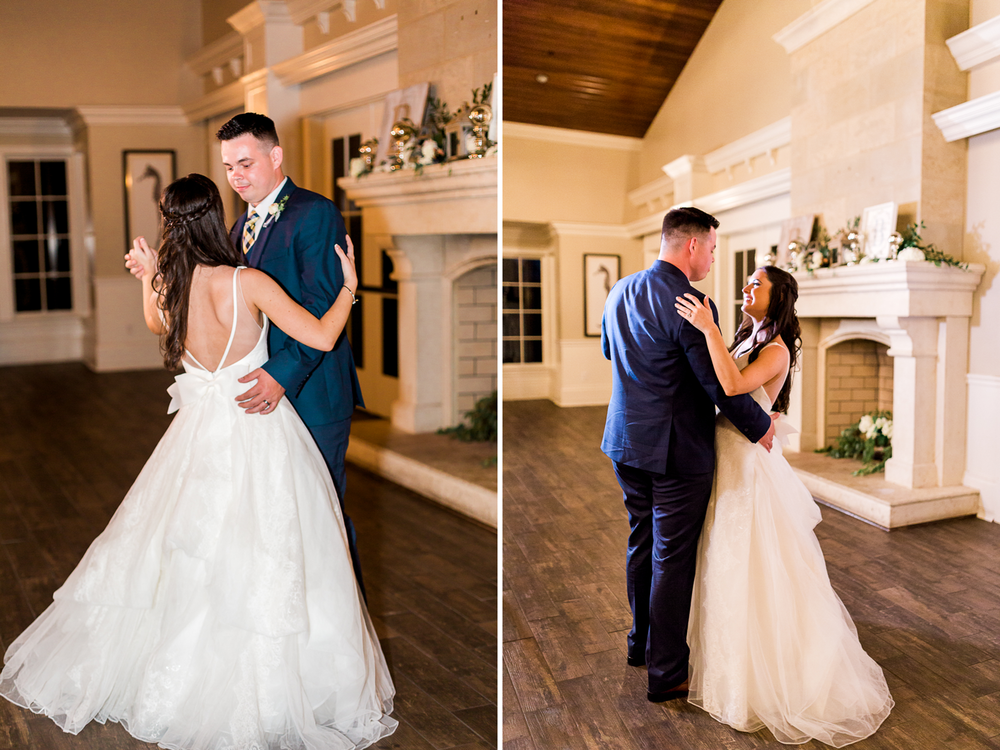 bride and groom's first dance in ponte vedra wedding