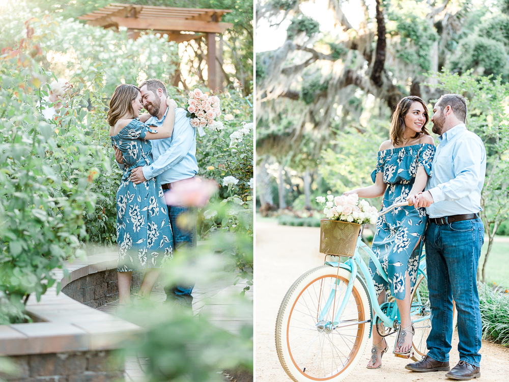 engagement picture ideas with beach cruiser bike