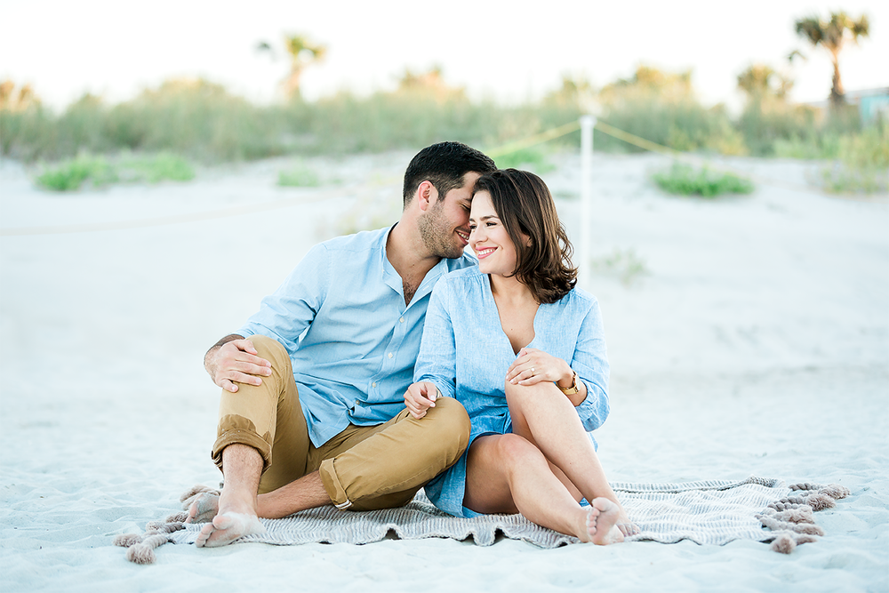 beach engagement session with a surprise proposal