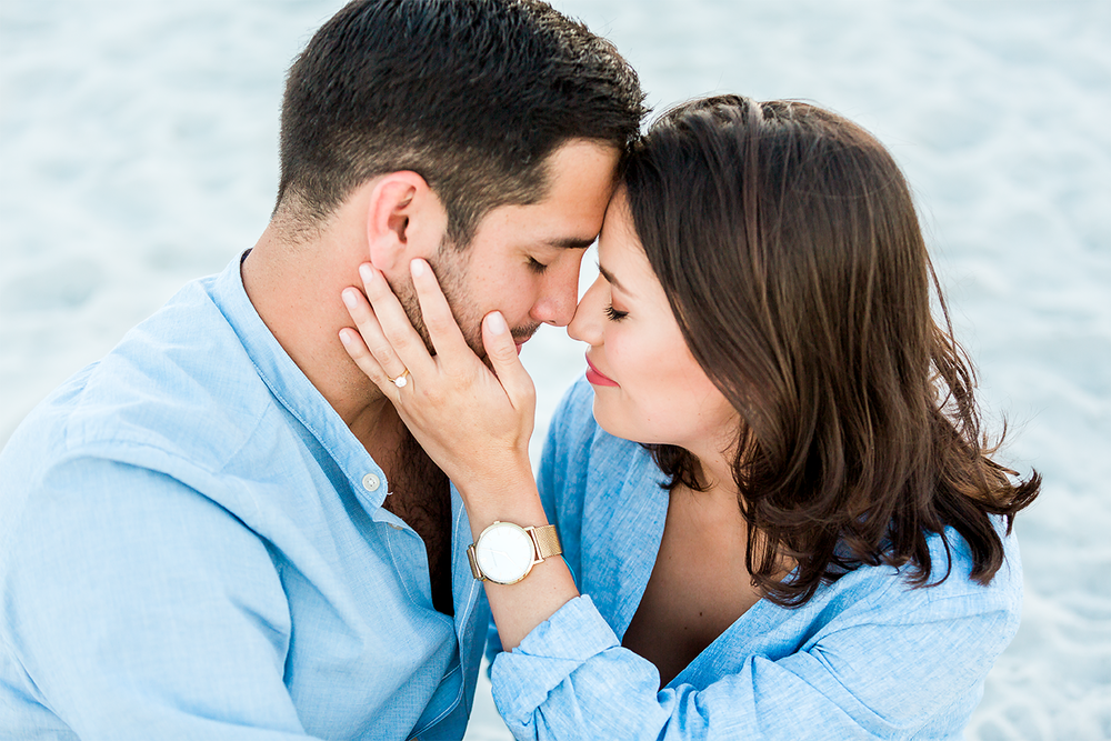 jacksonville beach engagement session