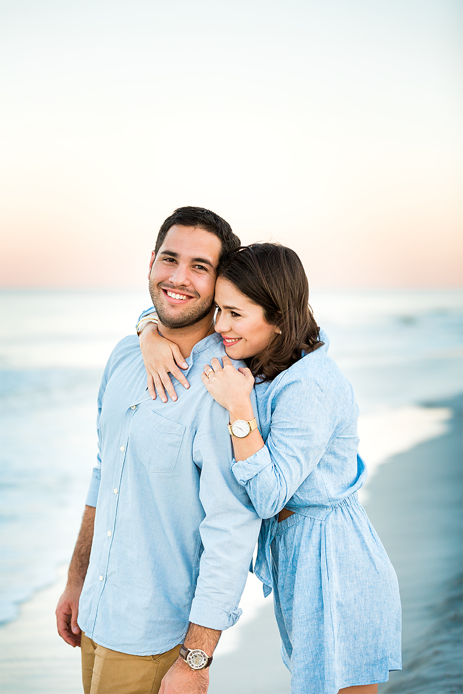 sunset beach engagement session in jacksonville fl