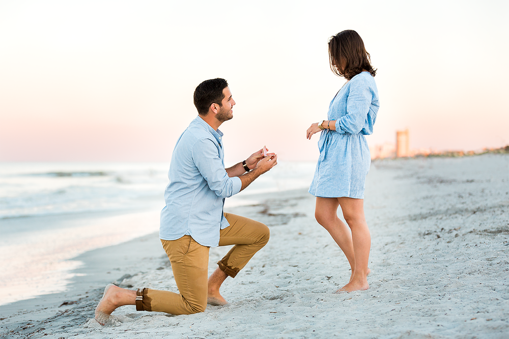 surprise proposal in jacksonville beach