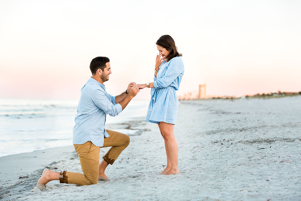 sunset surprise proposal in jacksonville fl