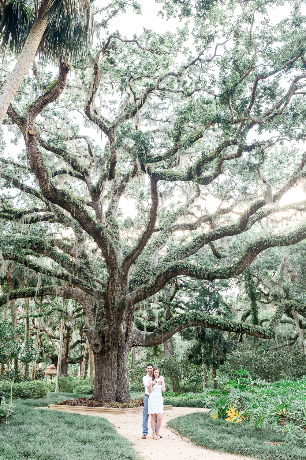summer engagement session in st.augustine