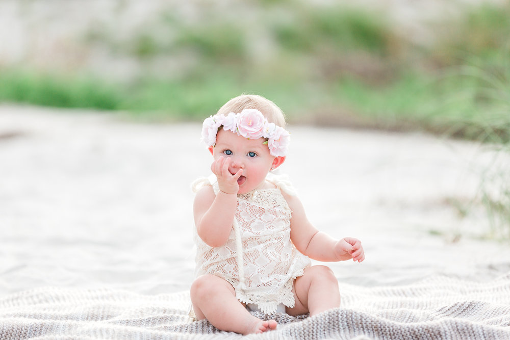 beach photoshoot celebrating 1st birthday
