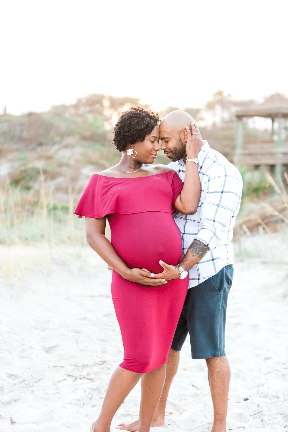sunset beach maternity session in jacksonville beach