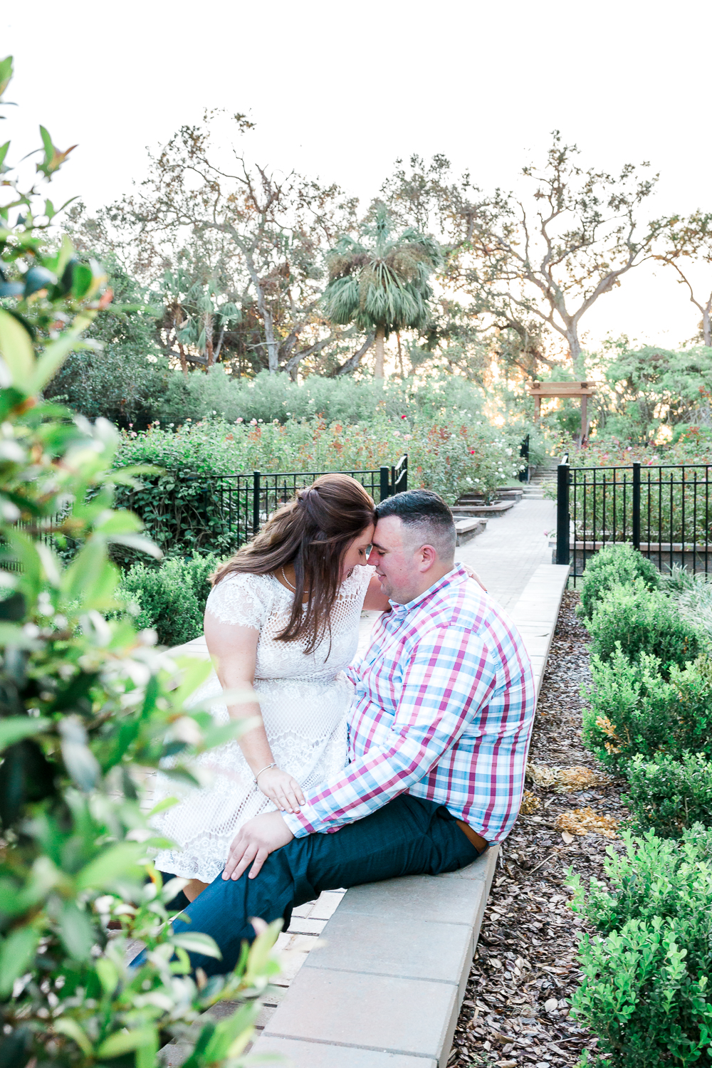 fall engagement session in the garden