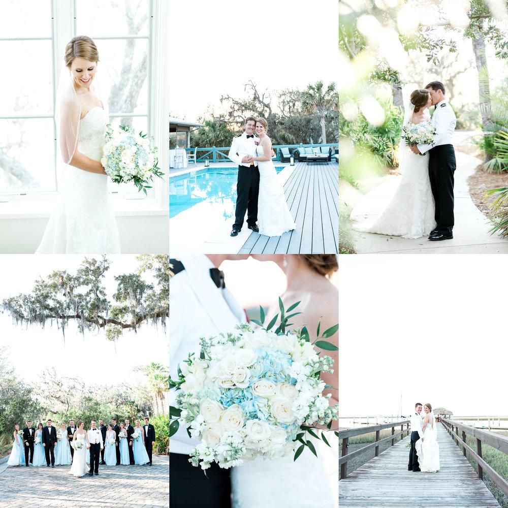 fernandina beach wedding in oyster bay yacht club_bride and groom photos