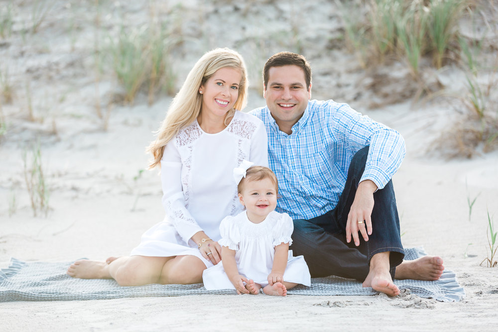 family beach photoshoot in St.Augustine