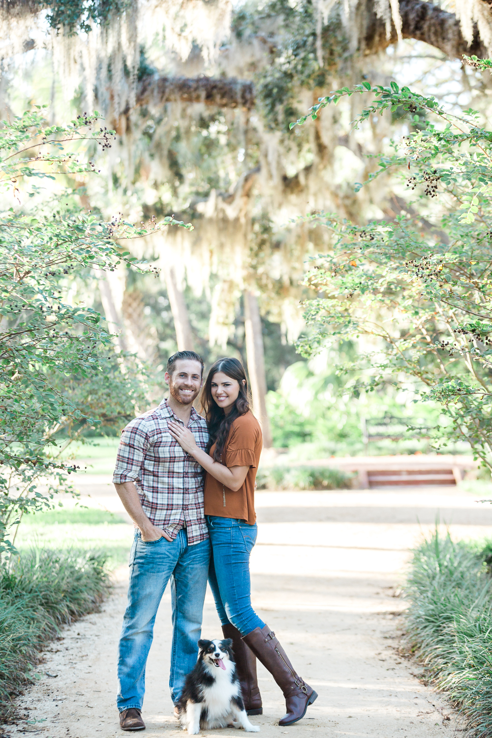 engagement pictures at the park in st.augustine