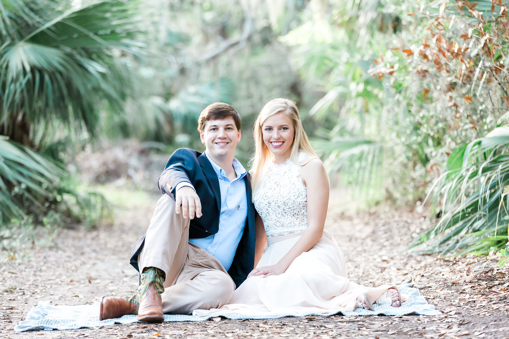 engagement pictures in wooded area