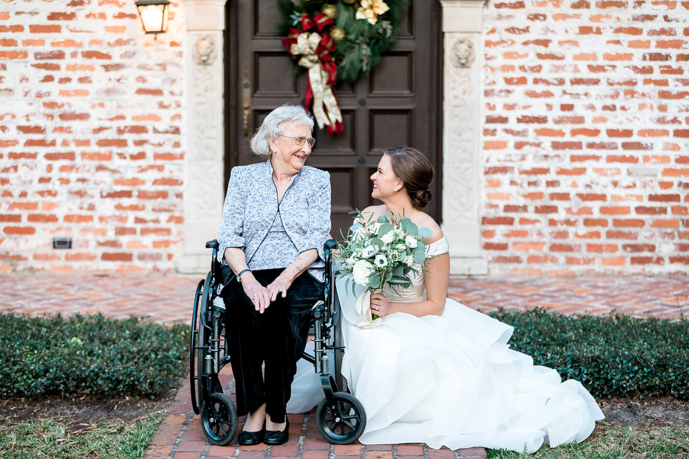 bride and her grandmom