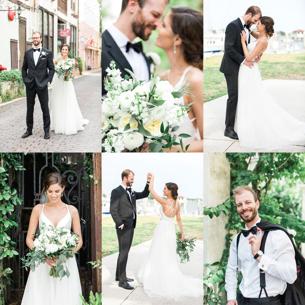 St.Augustine wedding in The White Room. Bride and groom first look and wedding details.jpg