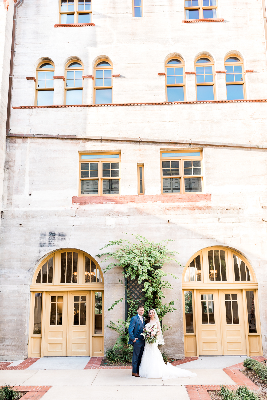 Bride and groom in St.Augustine wedding