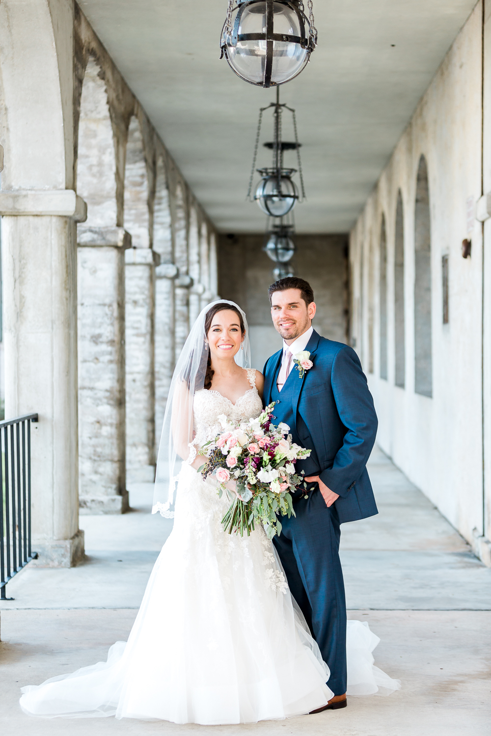 Bride and groom's formal photos in the Ligthtner Museum