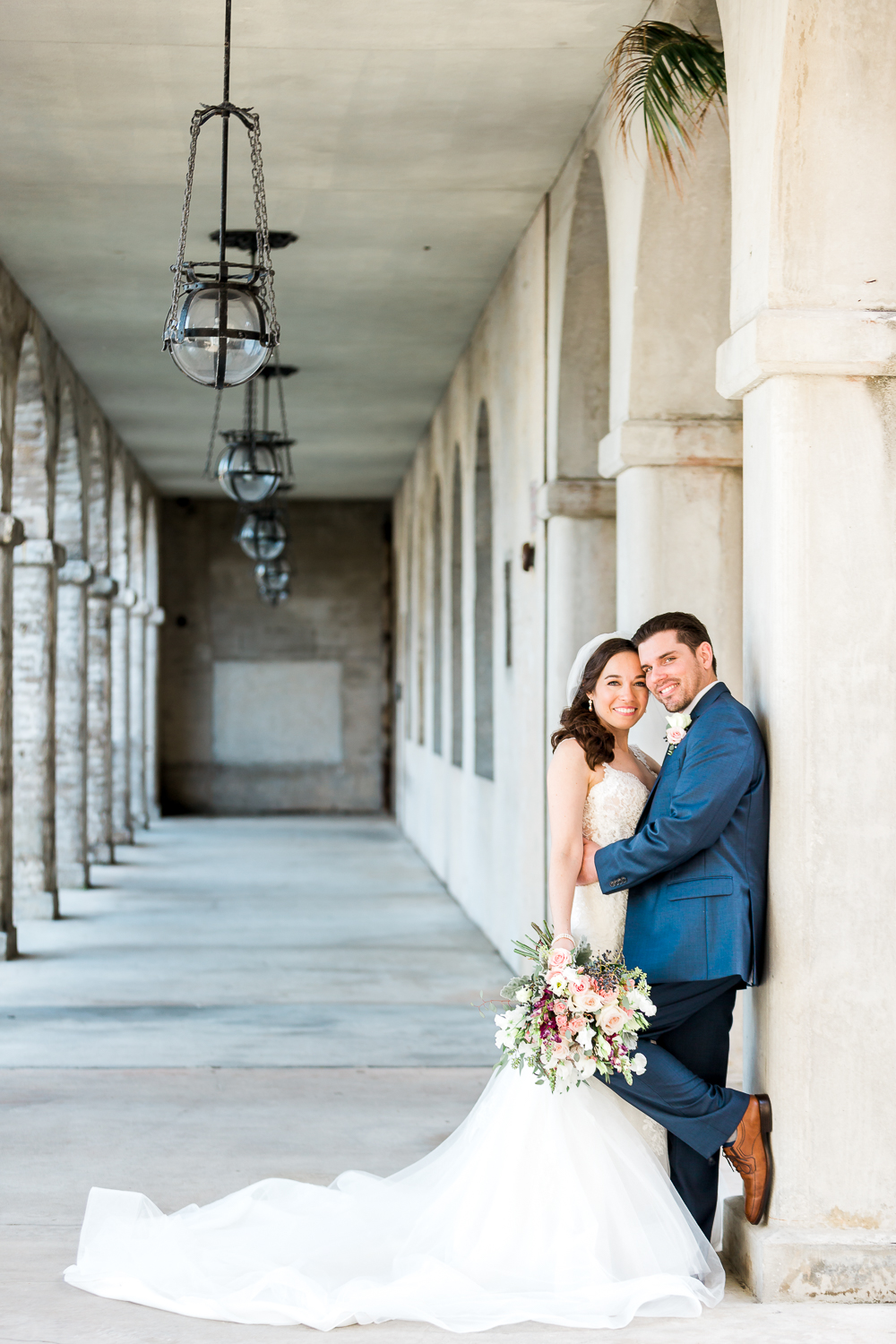 Bride and groom in St.Augustine