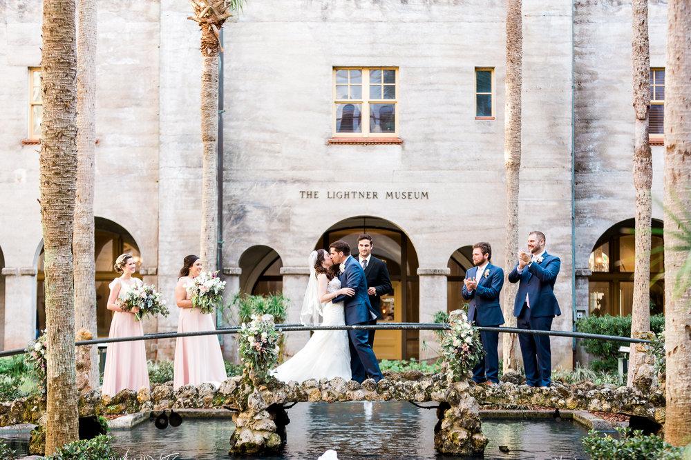 Wedding ceremony in Lightner Museum courtyard