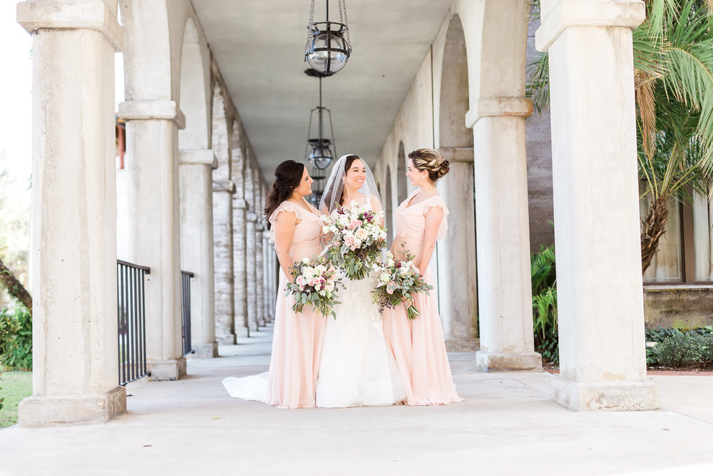 Bridal party portraits in St.Augustine