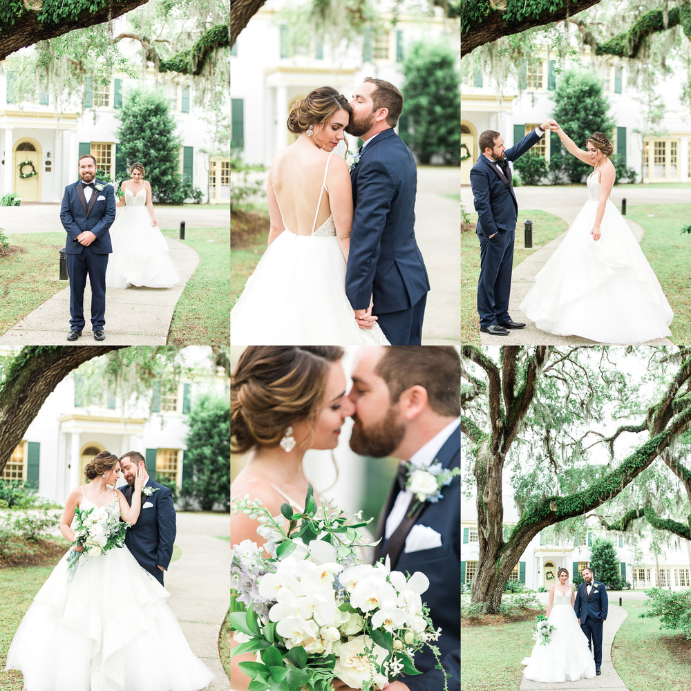 Wedding at the Ribault Club. First look and bride & groom portraits. Southern wedding picture ideas