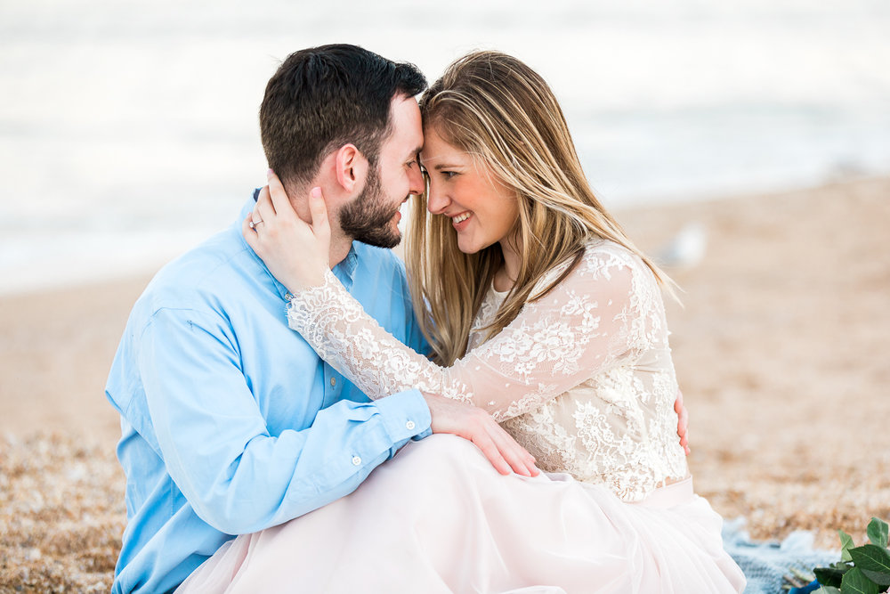 Inspiration for beach engagement photoshoot