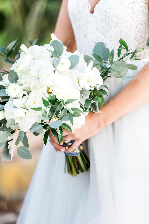 Bride's bouquet details
