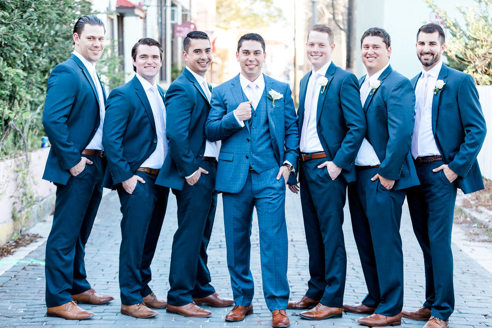 Groom and groomsmen pictures