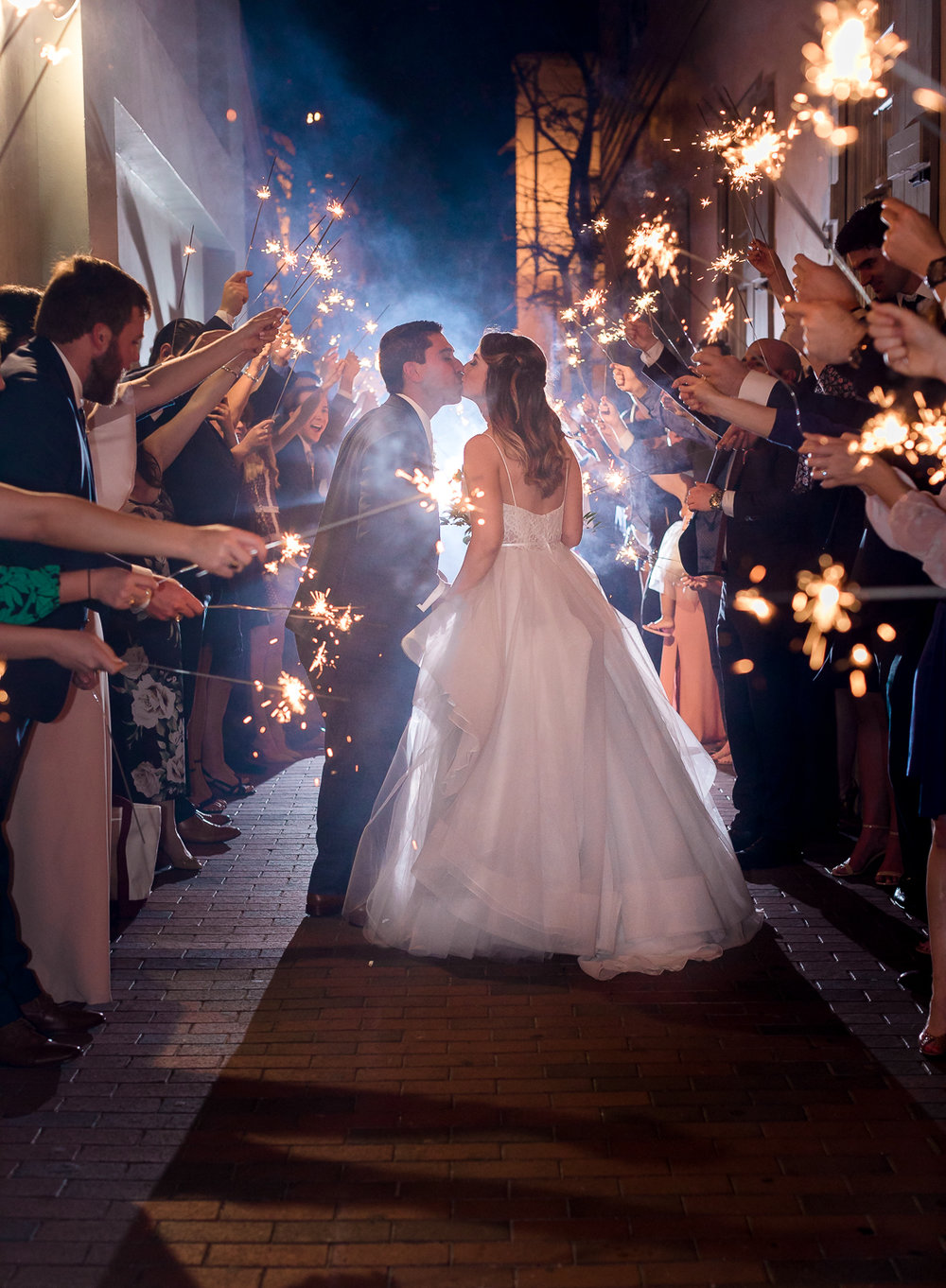 sparkler exit in the white room wedding in st.augustine