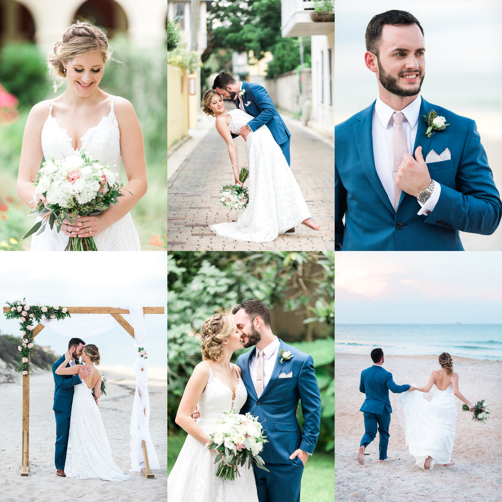 serenata beach club wedding in st.augustine- bride and groom pictures