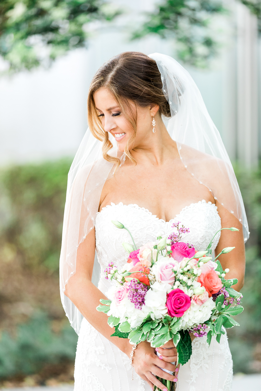 Bride with her beautiful bouquet