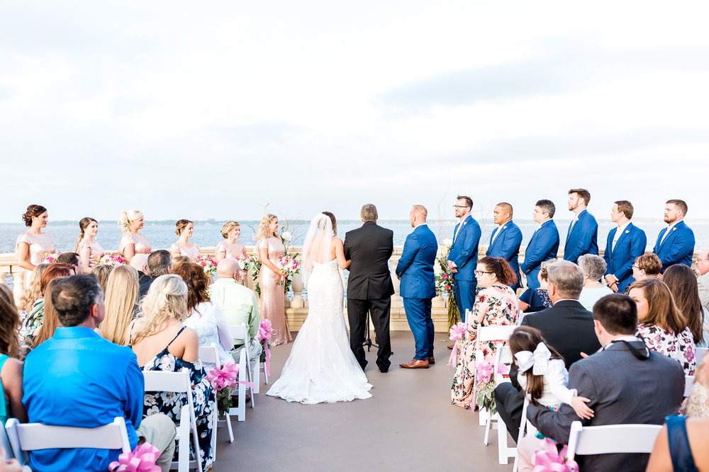 Wedding ceremony in Florida Yacht Club