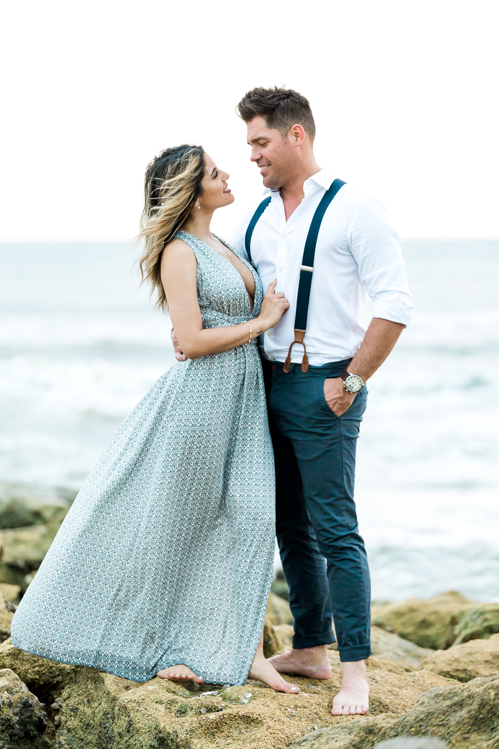 Engagement photos in St.Augustine on the beach